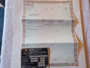 1959 Gmc Pickup Truck Historical Paperwork Document Hot Rod Rat Rod Rare