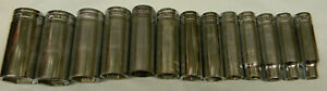 Snap on 1 2 Drive 13pc Sae 6pt Deep Socket Set 313tsya 3 8 1 1 8