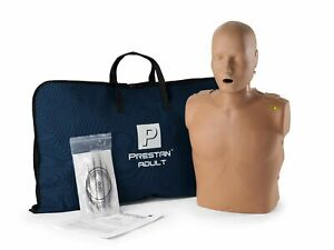 Prestan Adult Cpr Aed Training Manikin w Monitor Dark Skin Pp am 100m ds