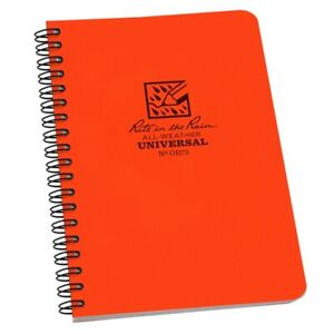 Rite In The Rain Or73 All weather Universal Spiral Notebook Orange 4 5 8 X 7