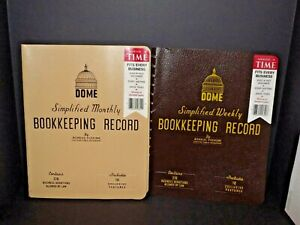 2 Dome Simplified Bookkeeping Record Binders 600 Weekly 612 Monthly New u