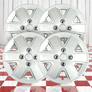 15 Push On Silver Hubcaps For 2006 2011 Ford Focus Qty Four