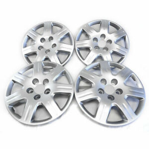 16 Bolt on Silver Hubcaps For 2006 2011 Honda Civic qty Four