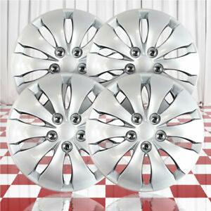 16 Push on Silver Hubcaps For 2008 2012 Honda Accord qty Four