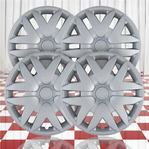 16 Push On Silver Hubcaps For 2004 2010 Toyota Sienna Qty Four