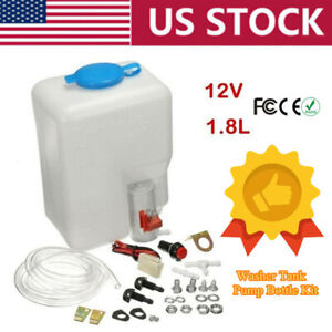 Universal Washer Tank Pump Kit Windshield Wiper System Quality Reservoir Cooling