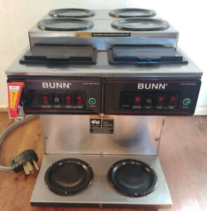 Bunn 12 Cup Auto Commercial Coffee Brewer With 6 Warmers Cwtf 4 2 Twin 220