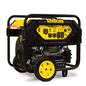 100111 Champion 12 000 watt Portable Generator W electric Start And Lift Hook