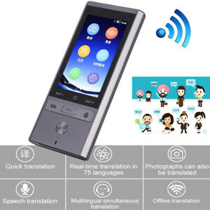 75 Languages Real Time Translation Wifi gps bt Smart Voice Translator For Travel