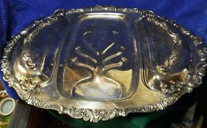 Wallace Silver Plated Butler Tray With Lids