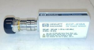 Hp Ecp e18a Cw Power Sensor 100 Pw 100mw 70 To 20dbm 10mhz 18ghz