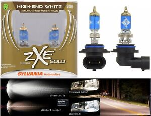 Sylvania Silverstar Zxe Gold 9006 Hb4 55w Two Bulbs Head Light Low Beam Replace