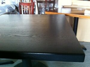 New 30 48 restaurant Solid Wood Edge Table Top With Black Finishing