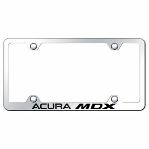 Licensed Mirrored Wide Body License Plate Frame W acura Mdx Augd3716