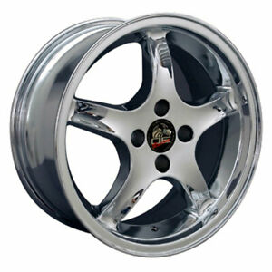 17 Chrome Wheel Mustang Cobra R Deep Dish Style Rim 17x8