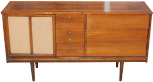 Dixie Short Credenza Sideboard Hutch Dining Server Buffet Mid Century Modern Mcm