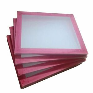 6 Pcs 20 X 24 Aluminum Frame Silk Screen Printing Screens White 180 Mesh Count
