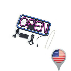 Hangable Square Billboards Open Led Neon Lights Spectacular Sign Outdoor