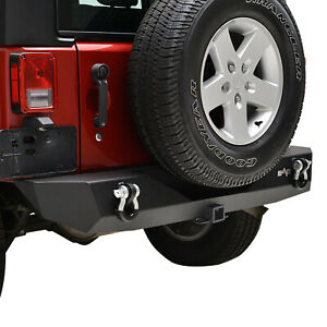 07 18 Jeep Wrangler Jk Offroad Rear Bumper With 2 Hitch Receiver