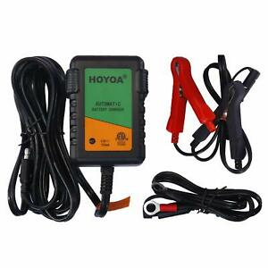 Hoyoa 12v 750ma Trickle Battery Charger Maintain Charger Lead Acid Gel Agm For C