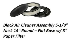 Air Cleaner Assembly Black Flat Base 14x3 Chevy Sb Bb 350 383 396 454 Chevrolet