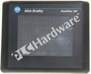 Allen Bradley 2711 t6c16l1 Series B Panelview 600 Color Touch Rs232 Scratches