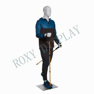 Male Sports Mannequins Elegant Moving Pose With Hiking Legs mz zl m03