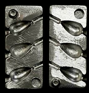 SINKER MOULDS  ALLOY BOMB LEAD SINKER MOLD 2 oz MAKE YOUR OWN LEAD WEIGHTS $41.62
