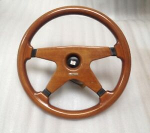 Nissan Wood Steering Wheel Victor Patrol Silvia 200sx Terrano Retro Rare 355mm