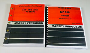 Massey Ferguson 265 Tractor Service Parts Manual Gas Diesel Sn 9a349200 Up