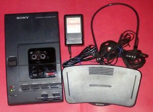 Sony M 2000 Desktop Microcassette Transcriber Recorder With Foot Pedal Fs 80