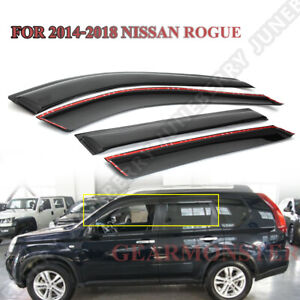 Wavy Style Window Visor Vent Shade For Nissan Rogue 14 18 X Trail 14 2018