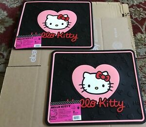 Rear Utility Rubber Floor Mats Hello Kitty