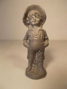 Antique Boy Finial Figurine Statute Not Round Oak Stove