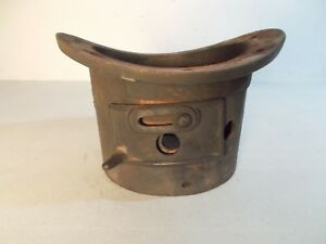 Antique Cast Iron Ornate Round Oak 16sb T 2 Stove Pipe Collar Pd Beckwith Nice
