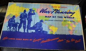 Rand Mcnally War Planning Map Of The World Ww Ii