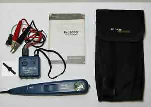 Fluke Networks Pro3000 Tone Probe Kit W Manual Extra Tip Nylon Carrying Case
