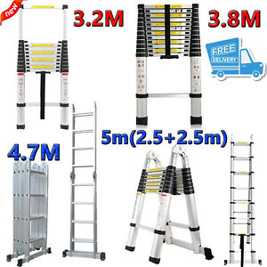 Multi purpose Aluminum Telescopic Folding Step Ladders Extendable Scaffold Usa