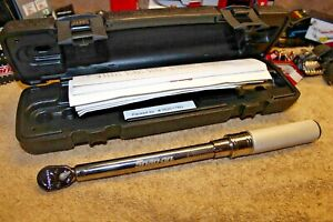 Snap On 1 4 Drive Adjustable Click type Fixed Ratchet Torque Wrench 5 25 N m