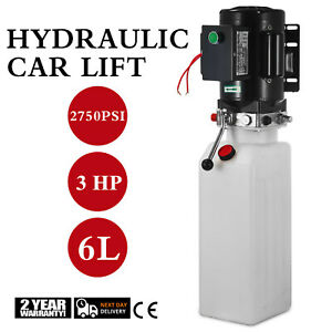 Car Lift Hydraulic Power Unit Pack 220v 6l 3hp 2750 Psi Auto Universal
