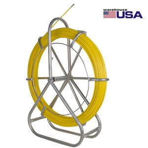 Fish Tape Fiberglass Wire Cable Running Rod Duct Rodder Puller 6mm 425ft Durable