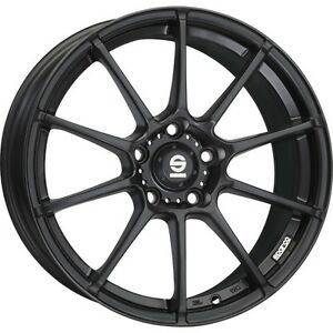 Alloy Wheels Sparco All assetto Gara Black Smart Fortwo Forfour 453 17 Inch