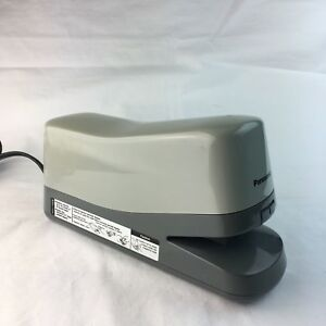 Electric Stapler Panasonic As 302n Heavy Duty 20 Sheets Capacity Gray