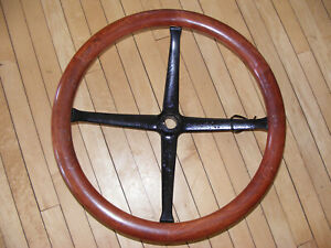 Vintage Wood Wooden Steering Wheel Model T Ford 16 Diameter 300689