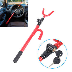 Steering Wheel Lock The Club Car Anti Theft Truck Suv Auto Van Universal Red