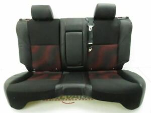 2010 2013 Mazdaspeed Mazda 3 Speed Oem Rear Seat Back Bottom Black Leather Red