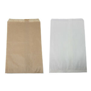 Retail Kraft Paper Bags White Brown 6 X 9 8 5 X 11 12 X 15 Wholesale