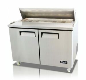 New Migali 48 Sandwich Prep Table Cooler C sp48 hc Free Shipping