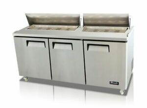 New Migali 72 Big top Sandwich Prep Table Cooler C sp72 bt Free Shipping