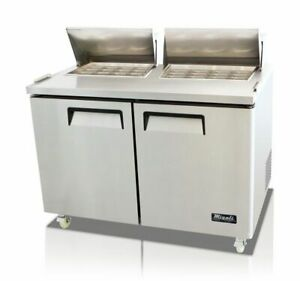 New Migali 60 Big top Sandwich Prep Table Cooler C sp60 bt Free Shipping